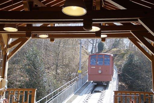 Mountain Railway, Old, Historically, Heidelberg