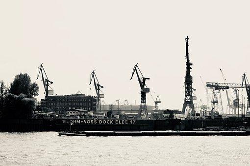 Ship, Transport System, Industry, Sea, Hamburg, Port