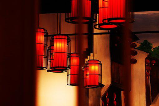 Light, Illuminated, Lantern, Lamp, Building, Indoor