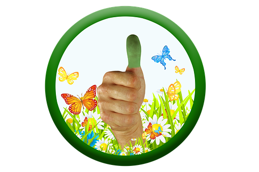 Thumb, Green Thumb, Thumbs Up, Nature, Care, Positive