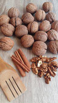 Nuts, Nut, Cinnamon, Cinnamon Stick, Recipes, Food