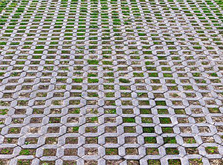 Lawn Stones, Lawn Grid, Patch, Flooring, Paving