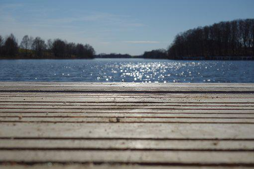 Waters, Nature, Wood, Lake, Reflection, Sparkle, Out