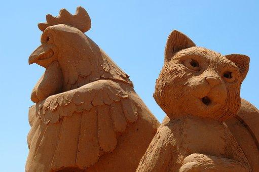 Animal, Statues, Sand, Australia, Frankston, Victoria