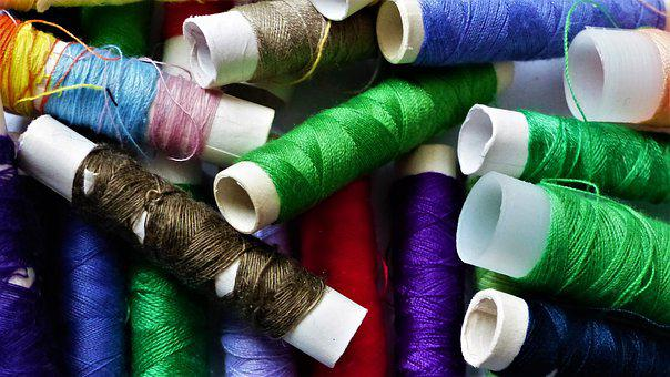 Wire, Couture, Textile, Coil, Needle, Colors, Sewing