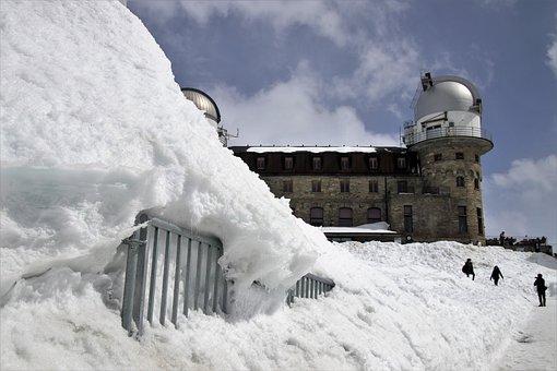 Ski Resort, Hotel, Zermatt, The Alps, Switzerland, Snow