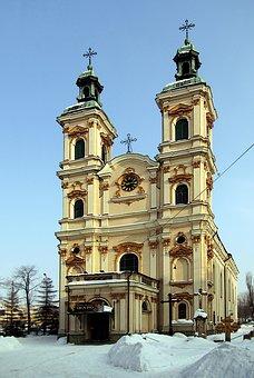 Architecture, Religion, Travel, Old, Sky, Bielsko-biała