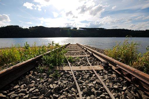 Nature, Waters, Travel, Railway Line, Sky, Lake