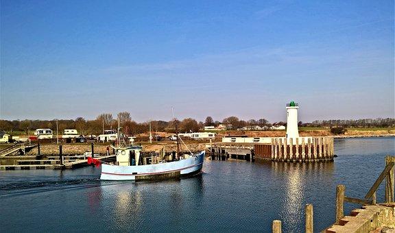 Baltic Sea, Denmark, Port, Small Fishing Port