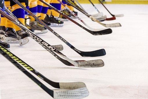 Hockey Team, Hockey Game, Ice Skating Rink, Sticks