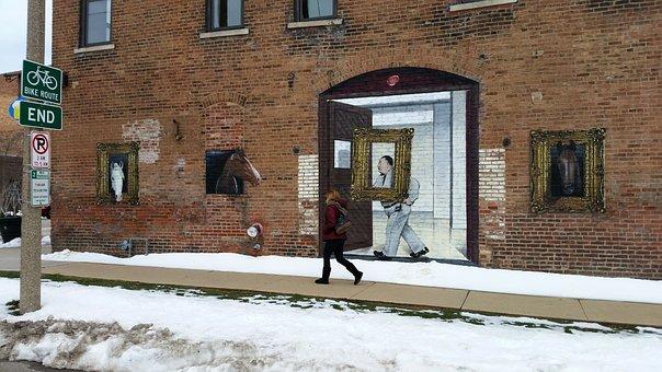 Graffiti, Mural, Street Art, Art, Horses, Frame