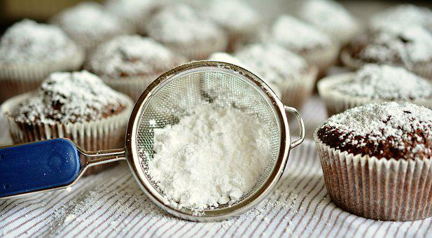 Icing Sugar, Sieve, Dessert, Food, Sugar, Sweet