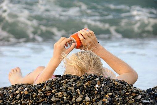 Sea, Beach, Summer, Sand, Son, Soft Drinks