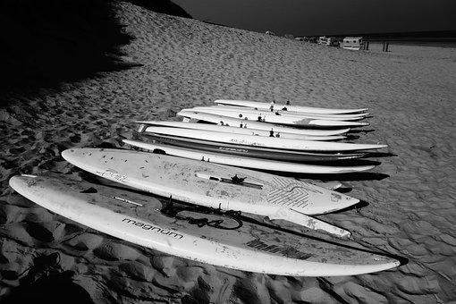 Surf, Surfboards, Beach, Sea