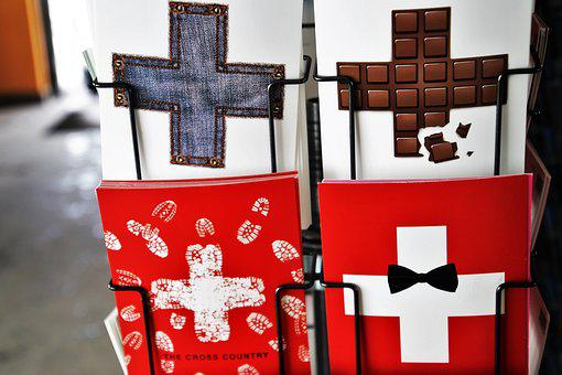 No One, Gift, Cross, Switzerland, Card, Sign, Symbol
