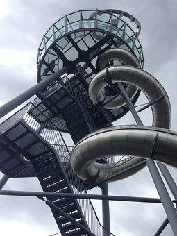 Steel, Slide, Vitra, Weil Am Rhein, Aluminum, Silver