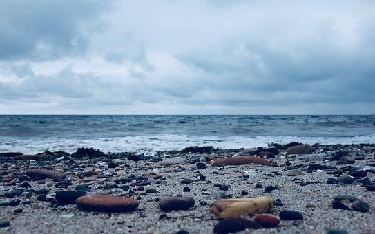 Sea, Waters, Beach, Coast, Nature, Pebbles, Stones