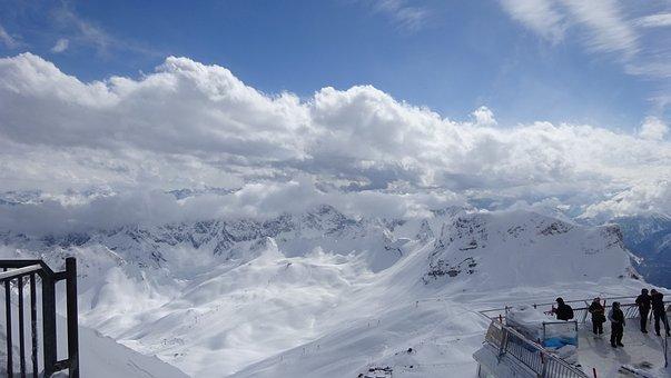 Snow, Nature, Panorama, Winter, Mountain, Zugspitze