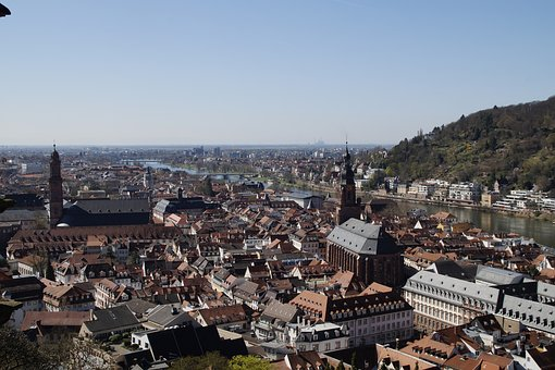 Panorama, City, Architecture, Heidelberg