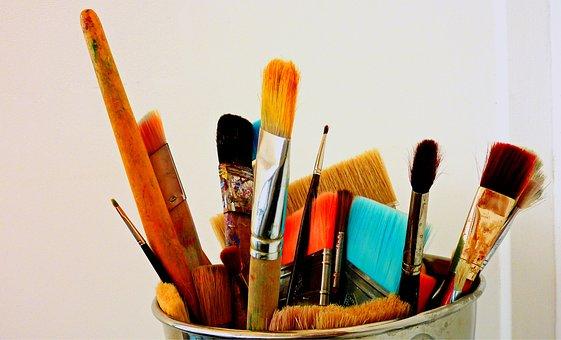 Brush, Background, Creativity, Color, Handmade