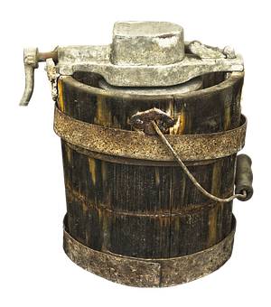 Wooden Bucket, Container, Butter Churn, Barrel
