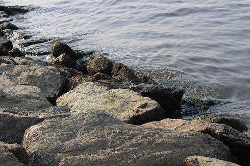 Body Of Water, Marine, Beach, Kennedy, Nature, Stone