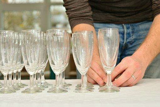 Glasses, Champagne Glasses, Glass Series, Celebration