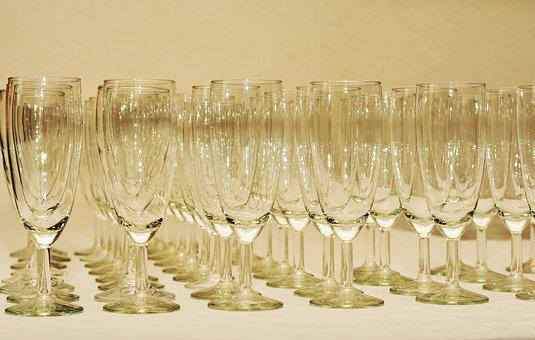 Glasses, Champagne Glasses, Glass Series, Celebration