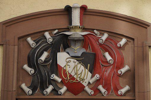 Knight, Coat Of Arms, Family Crest, Heidelberg, Door