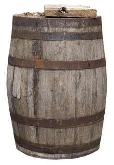 Barrel, Wooden Barrels, Old Barrel, Frosted, Weathered