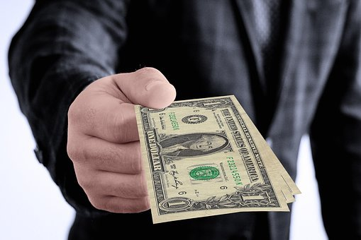 Dollar, Gift, Hand, Keep, Give, Present, Presentation