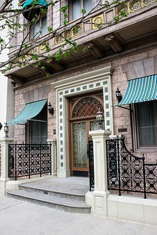 Building, Home, Windows, Bill, The Entrance, Door, 踏段