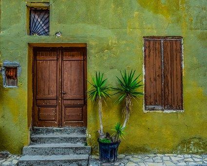 Door, Doorway, Wooden, Entrance, House, Facade