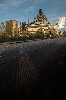 Industry, Factory, Heavy Industry, Steel Mill, Road