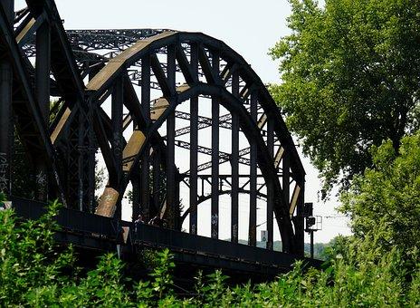 Wood, Bridge, Steel, Stahlbau, Railway Bridge, Iron