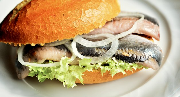 Fischbrötchen, Fish Herring, Food, Meal, Gourmet