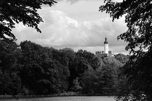 Castle Tower, Greiz, Mystical, Thuringia Germany