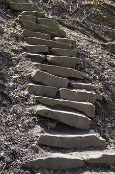 Stone, Nature, Sand Stone, Stairs, Jacob's Ladder, Head