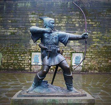 Robin Hood, Bow And Arrow, Nottingham Castle, Statue