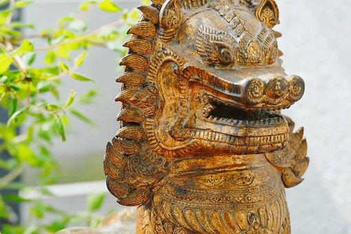 Buddha, Temple, Religion, Dragons, Statue, Sculpture
