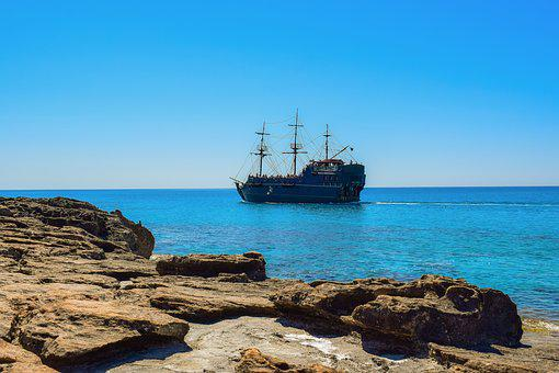 Sea, Rocky Coast, Boat, Seashore, Travel, Ship, Vessel