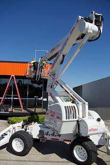 Lift, Vehicle, Equipment, Tractor, Machinery, Crane