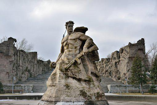 Volgograd, Stalingrad Metro Station, Monument