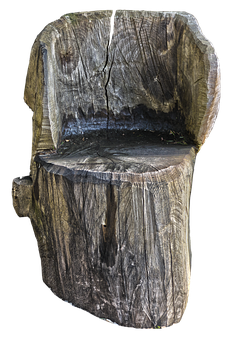 Chair, Seat, Log, Sawn, Wood, Weathered, Structure