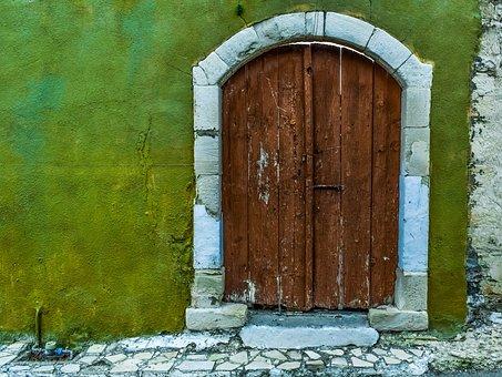 Door, Gate, Doorway, Wooden, Entrance, House, Facade