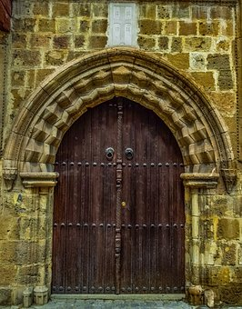 Door, Doorway, Wooden, Architecture, Entrance, Arch