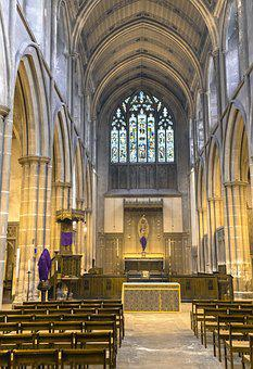 Church, Cathedral, Religion, Bench, Architecture