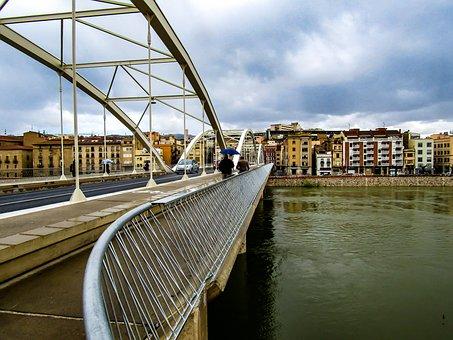Bridge, River, Architecture, Body Of Water, Sky, City