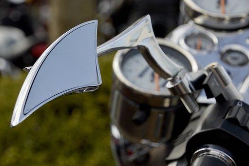 Equipment, Steel, Rear View Mirror, Motorcycle, Biker