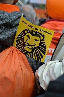People, Festival, Flag, Orange, Lion, King's Work, Fun